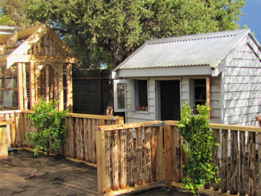 Potting shed and chicken coop, an opportunity for self directed horticulture